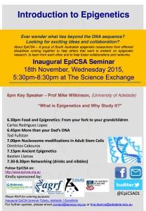 18 November EPigenetics Flyer