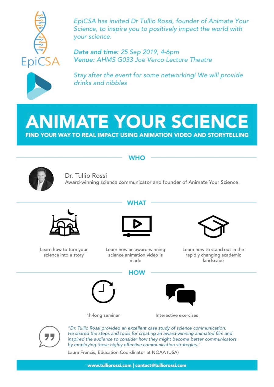 Animate you science flyer