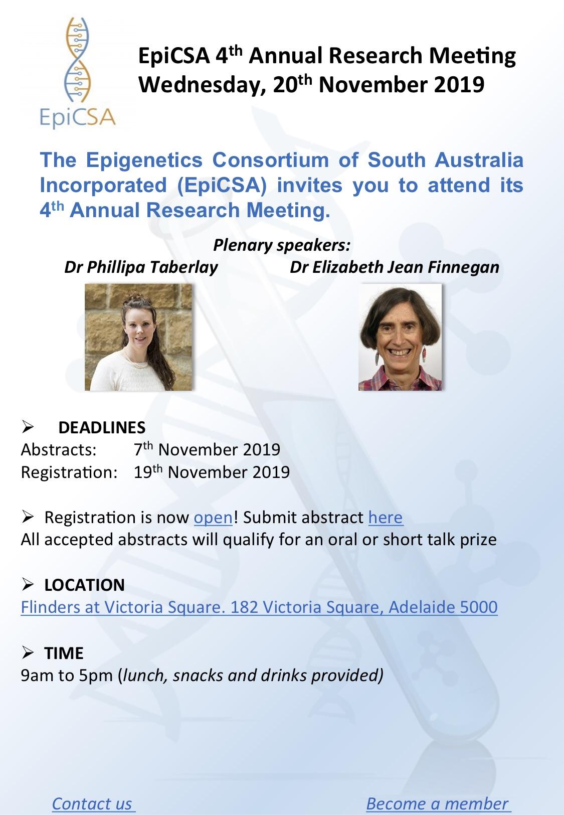 EpiCSA Scientific Conference 2019 flyer2