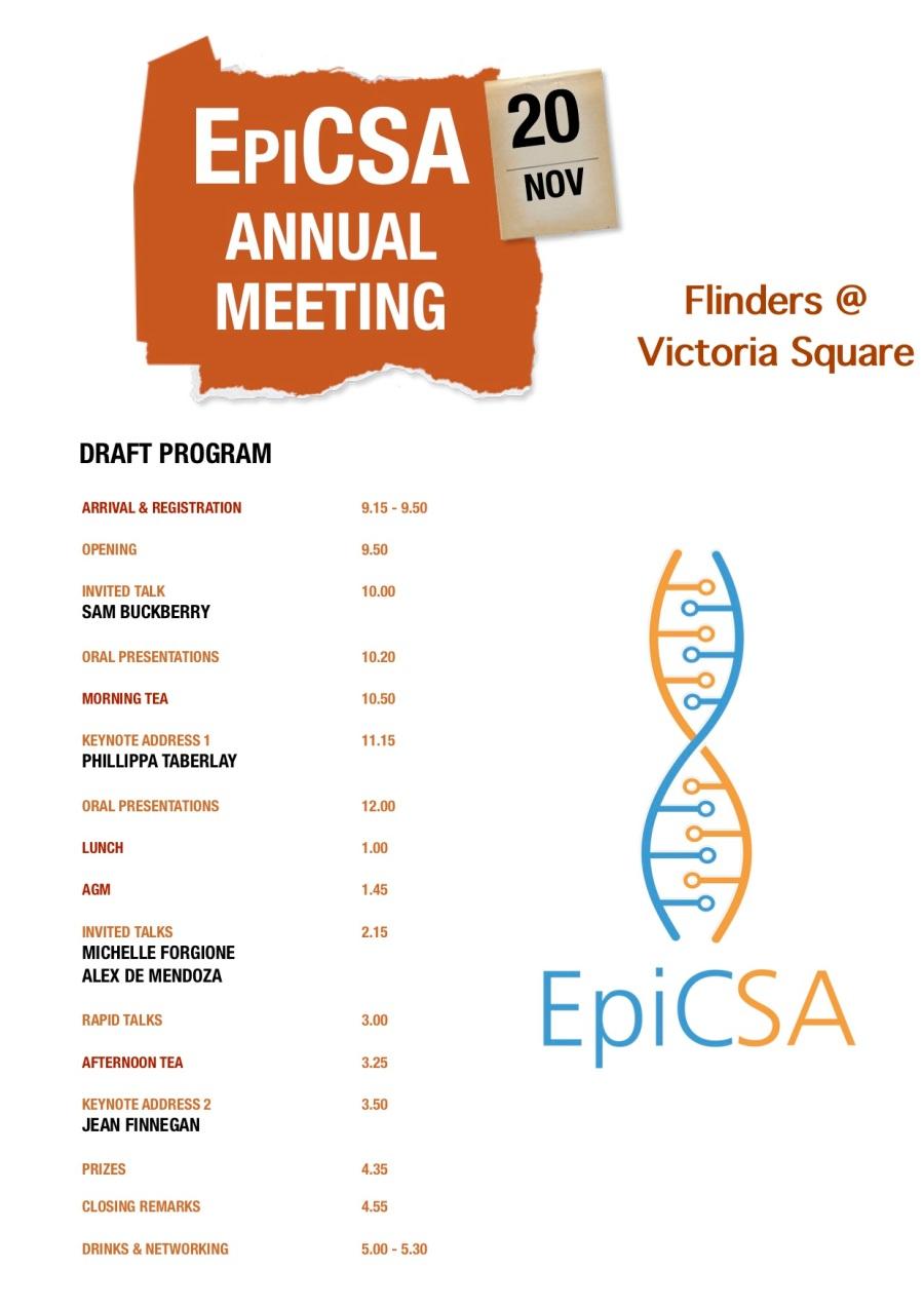 EpiCSA draft program 2019