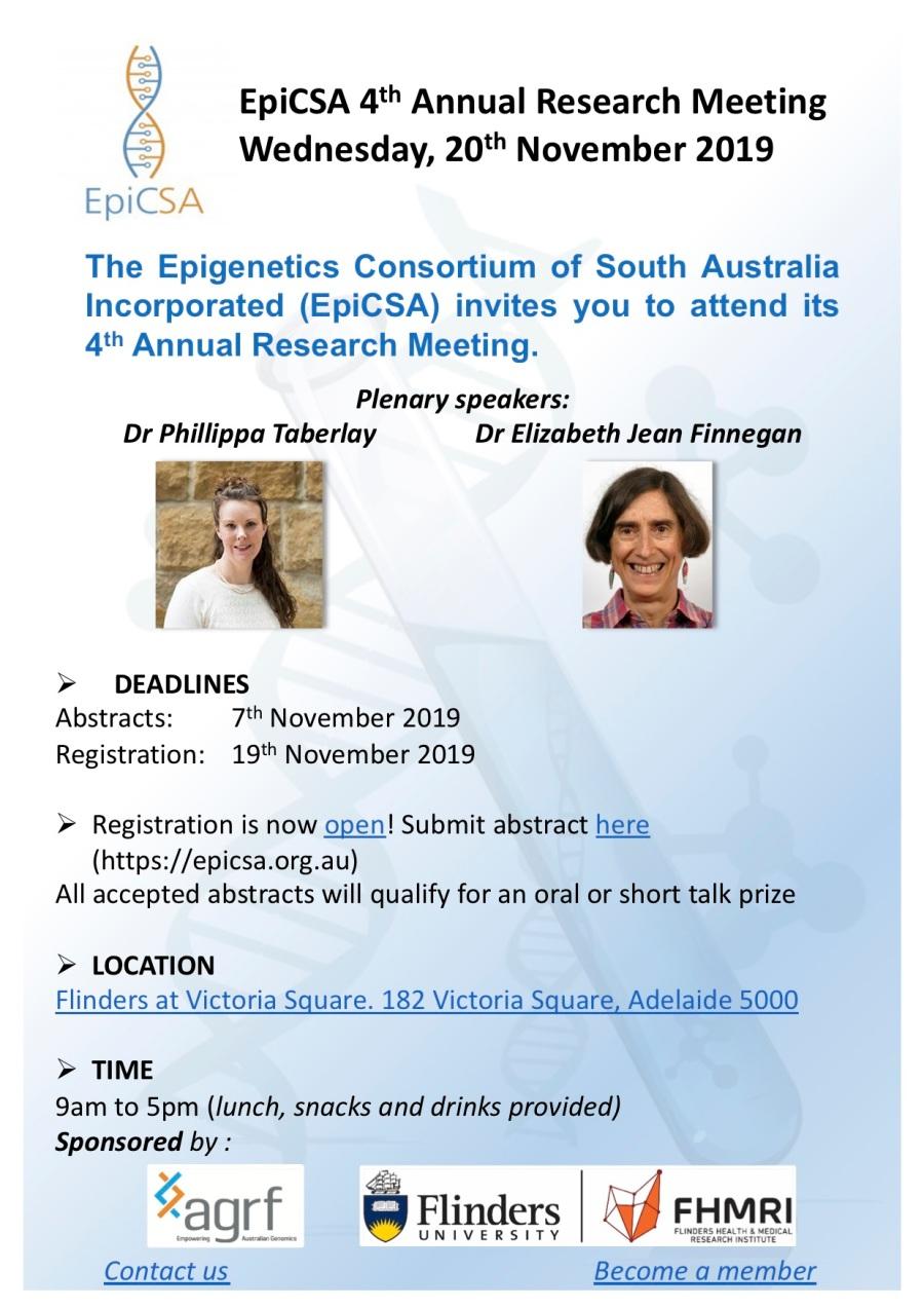 Scientific meeting flyer 2019